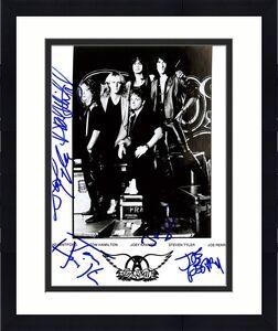 Aerosmith (5) Steven Tyler, Joe Perry +3 Signed 8x10 Publicity Photo BAS #A53087