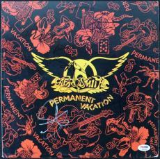 Aerosmith (5) Tyler Perry Kramer +2 Signed Album Cover W/ Vinyl PSA/DNA #S14589