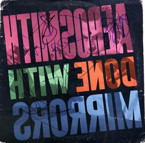Aerosmith Autographed Full Band Signed Mirros Album & Proof AFTAL