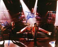 Aerosmith Autographed Signed 8x10 Photo 4 Sigs Steven Tyler PSA/DNA
