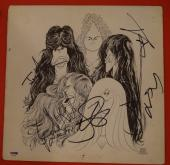 Aerosmith Complete Band Signed Draw The Line Vinyl Lp Record Album PSA/DNA COA B