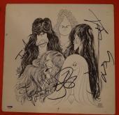 Aerosmith Complete Band Signed Draw The Line Vinyl Lp Record Album PSA/DNA COA B
