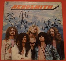 Aerosmith Complete Band Signed Dream On Vinyl Lp Record Album Flawless!