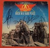 Aerosmith Complete Band Signed Rock In A Hard Place Vinyl Lp Record Album