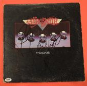 Aerosmith Complete Band Signed Rocks Vinyl Lp Record Album PSA/DNA COA