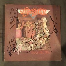 Aerosmith Complete Band Signed Toys In The Attic Vinyl Lp Record Album Flawless!