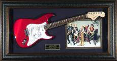 Aerosmith Group Autographed Guitar Framed Display