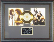Aerosmith Laser Engraved Signature Gold Record Display