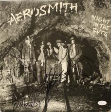 "AEROSMITH ""Night in the Ruts"" album signed by entire band -JSA COA X91078-"