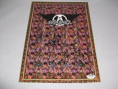 "AEROSMITH signed autographed ""NINE LIVES"" TOUR PROGRAM PSA/DNA LOA STEVEN TYLER"