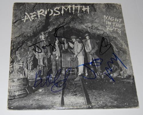 AEROSMITH signed (NIGHT IN THE RUTS) RECORD ALBUM COVER W/COA *STEVEN TYLER*