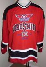 Aerosmith Steven Tyler 9 Lives Signed XL Concert Hockey Jersey PSA Certified