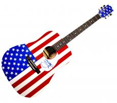 Aerosmith Steven Tyler Autographed Signed USA Acoustic Guitar & Proof