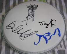 Steven Tyler, Brad Whitford, Joey Kramer & Joe Perry signed Drumhead, COA, Proof