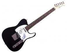 Aerosmith Steven Tyler Brad Whitford Signed Tele Guitar UACC RD AFTAL COA