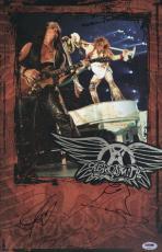 Aerosmith Steven Tyler & Joe Perry Signed 11x17 Poster Psa Coa V28805