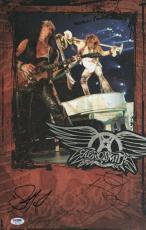 Aerosmith Steven Tyler & Joe Perry Signed 11x17 Poster Psa Coa W37785