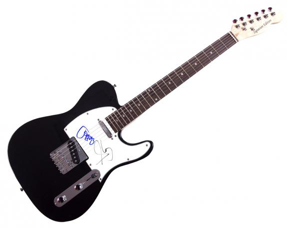 Aerosmith Steven Tyler Joe Perry Signed Tele Guitar Video Proof UACC RD AFTAL CO