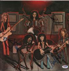 Aerosmith Steven Tyler Joey Brad Whitford Signed Album Sleeve Cover PSA AFTAL