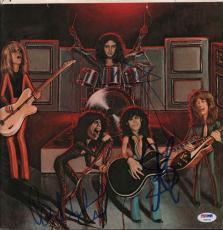 Aerosmith Steven Tyler plus Autographed Album Sleeve Poster Photo PSA AFTAL