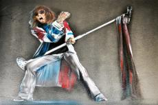 Aerosmith Steven Tyler Signed 24x30 Canvas Custom Painting Exact Vid Proof