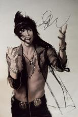 Aerosmith Steven Tyler Signed 24x36 Canvas B/W Poster Photo Video Proof