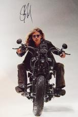 Aerosmith Steven Tyler Signed 24x36 Canvas Motorcycle Poster Photo Video Proof