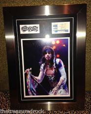 AEROSMITH Steven Tyler signed autographed photo ticket stub FRAMED PSA DNA COA