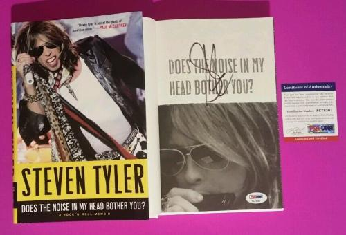 Aerosmith Steven Tyler Signed Book Does The Noise In My Head Bother You? Psa/dna