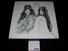 "AEROSMITH STEVEN TYLER signed ""DRAW THE LINE"" VINYL LP RECORD PSA/DNA COA"