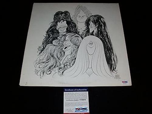 """AEROSMITH STEVEN TYLER signed """"DRAW THE LINE"""" VINYL LP RECORD PSA/DNA COA"""