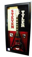 Aerosmith Steven Tyler Signed Guitar Display Exact Video Proof P