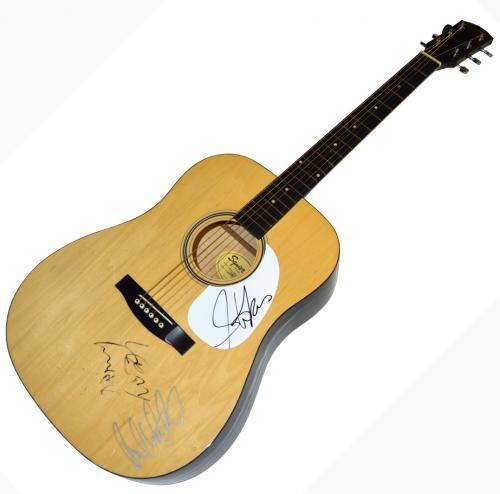 Aerosmith X3 Autographed Signed Fender Acoustic Guitar UACC RD COA AFTAL