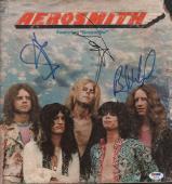 Aerosmith x3 Members Autographed Dream On Album Cover PSA LOA AFTAL