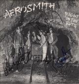 Aerosmith X5 Steven Tyler Joe Perry Brad Tom & Joey Signed Night In The Ruts Jsa