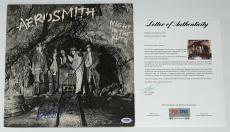 Aerosmith X5 Steven Tyler Joe Perry Brad Tom & Joey Signed Night In The Ruts Psa