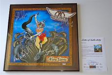 Aerosmith X5 Tyler Perry Kramer Hamilton & Whitford Signed Nine Lives Poster Psa