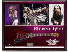 Aersmith Steven Tyler Signed Flying V Guitar + Display Case & Video Proof