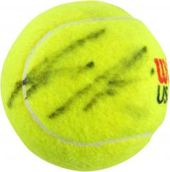 Andre Agassi Autographed US Open Logo Tennis Ball