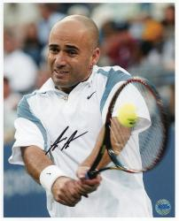 """Andre Agassi Autographed 8"""" x 10"""" Swing Photograph"""
