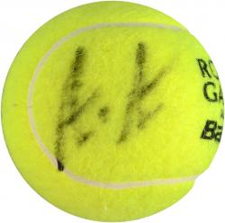 Andre Agassi & Steffi Graf Dual Autographed French Open Logo Tennis Ball