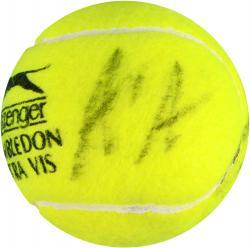 Andre Agassi & Steffi Graf Dual Autographed Wimbledon Logo Tennis Ball
