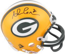 Ahman Green Signed Mini Helmet - Riddell Mounted Memories