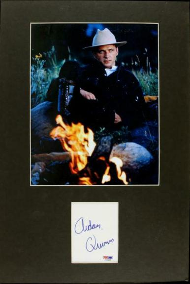 Aidan Quinn Signed Matted Cut Display Autographed PSA/DNA #J00155