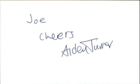 """AIDEN TURNER IF LOVING YOU IS WRONG Signed 3""""x5"""" Index Card"""