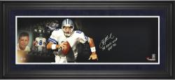 Troy Aikman Dallas Cowboys Framed Autographed 10'' x 30'' Film Strip Photograph with Multiple Inscriptions-Limited Edition of 8 - Mounted Memories