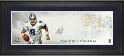 "Troy Aikman Dallas Cowboys Framed Autographed 10"" x 30"" Field General Photograph with Multiple Inscriptions-Limited Edition of 8"