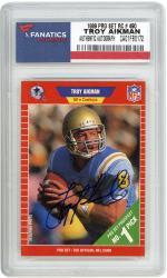 Troy Aikman Dallas Cowboys Autographed 1989 Pro Set Rookie #490 Card