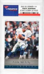 Troy Aikman Dallas Cowboys Autographed 2000 Upper Deck Legends #14 Card  - Mounted Memories  - Mounted Memories