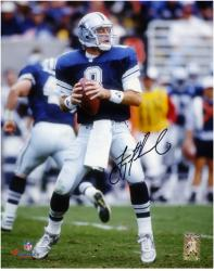 "Troy Aikman Dallas Cowboys Autographed 8"" x 10"" Looking to Pass Photograph"